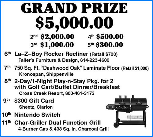 Prize listing